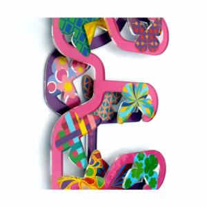 Amazing 3D wall letters with patterned butterflies for Eden Rose
