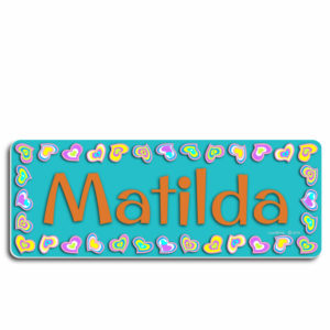 Baby name plaques