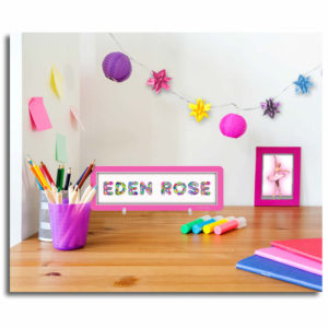 Personalized pretty name plaque for girls – LoveBrite