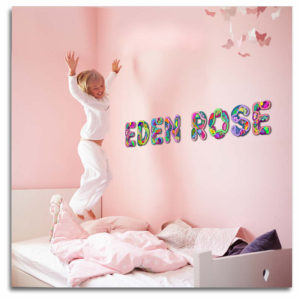 Beautiful letters with hearts for Eden Rose
