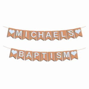 Personalised baptism bunting
