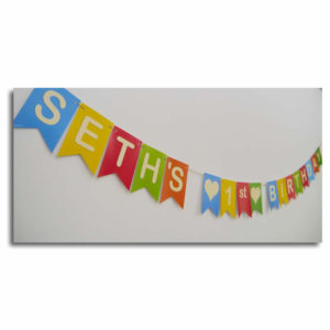coloured birthday bunting