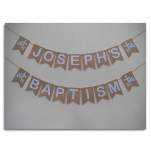 Traditional Baptism Bunting