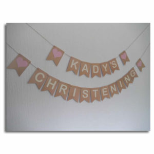 Traditional Christening Bunting