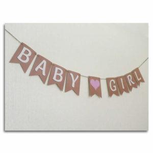 Baby shower bunting for Girls