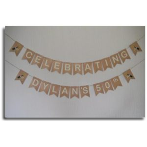 50th Birthday bunting banner