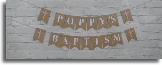 Baptism Bunting LoveBrite