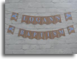 Blue Baptism Bunting