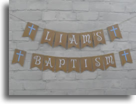 Fancy Baptism Bunting