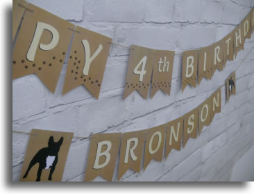 Pet dog breed bunting decoration